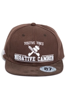 87 SNAPBACK NEGATIVE CAMBER BROWN/BROWN/WHITE UNISEX