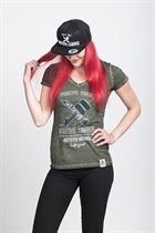 "87 GIRL´s T-SHIRT ""NEGATIVE CAMBER"" OLIVE"