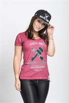 "87 GIRL´s T-SHIRT ""NEGATIVE CAMBER"" RED"