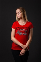 "87 GIRL´s T-SHIRT ""TT"" RED"