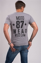 "87 MEN´s T-SHIRT ""WSEE CREW"" GREY"