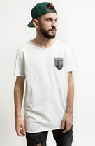 "87 MEN´s LONG T-SHIRT ""LOWLIFE"" WHITE Longshirt"