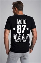 "87 MEN´s T-SHIRT ""WSEE CREW"" BLACK"
