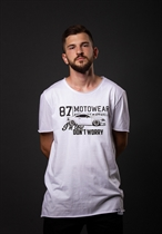 "87 MEN´s LONG T-SHIRT ""TT"" WHITE Longshirt"