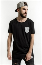 "87 MEN´s LONG T-SHIRT ""LOWLIFE"" BLACK Longshirt"